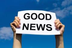 Gute Nachrichten Lizenzfreie Stockfotos