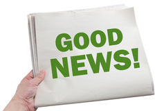 Gute Nachrichten Stockfoto