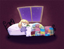 Gute Nacht stock abbildung