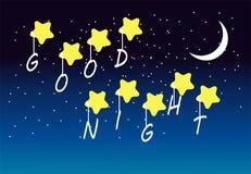 Gute Nachtszene Stockbilder