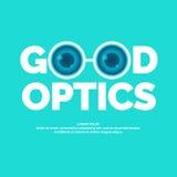 Gute Optik des modernen Vektorlogos lizenzfreie abbildung