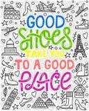 Gute Schuhe nehmen Sie zu einem guten Ort stock abbildung