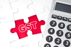 Gute Service-Steuer (GST) Stockfotografie