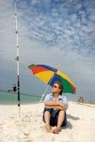 Gute Zeiten am Strand Stockbild