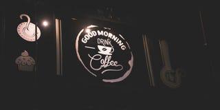 Guten Morgen Getränkkaffee lizenzfreie stockfotos