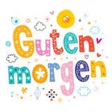 Guten-morgen guter Morgen auf Deutsch Lizenzfreies Stockbild