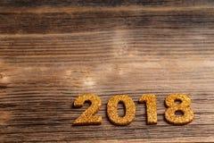 2018 guten Rutsch ins Neue Jahr Stockbild