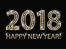 Guten Rutsch ins Neue Jahr 2018 lizenzfreie abbildung