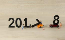 Guten Rutsch ins Neue Jahr 2017 2018 Stockfotos