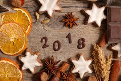 2018, guten Rutsch ins Neue Jahr Lizenzfreie Stockfotos