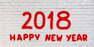 Guten Rutsch ins Neue Jahr 2018 Stockfotos