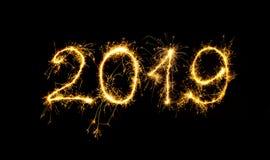 Guten Rutsch ins Neue Jahr 2019 Stockbild