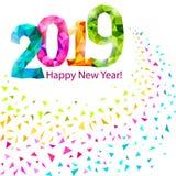 Guten Rutsch ins Neue Jahr 2019 Vektor Abbildung