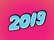 Guten Rutsch ins Neue Jahr 2019 stockfotografie