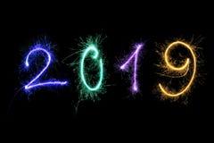 Guten Rutsch ins Neue Jahr 2019 lizenzfreie abbildung