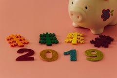Guten Rutsch ins Neue Jahr 2019 stockfoto
