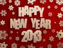 Guten Rutsch ins Neue Jahr 2013 Stockbild