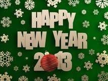Guten Rutsch ins Neue Jahr 2013 Stockfotos