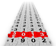 Guten Rutsch ins Neue Jahr 2013 Stockfotografie