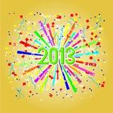 Guten Rutsch ins Neue Jahr 2013 Stockbilder