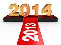 Guten Rutsch ins Neue Jahr 2014 Lizenzfreie Stockbilder
