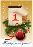 Guten Rutsch ins Neue Jahr! Stockbild