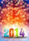 Guten Rutsch ins Neue Jahr 2014 Lizenzfreies Stockfoto