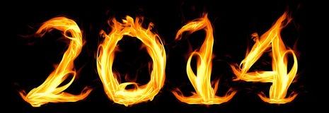 Guten Rutsch ins Neue Jahr 2014 Stockfotos