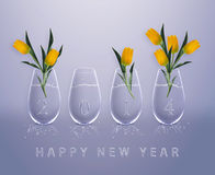 Guten Rutsch ins Neue Jahr Lizenzfreies Stockfoto