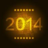 Guten Rutsch ins Neue Jahr 2014 stock abbildung