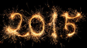 2015 - Guten Rutsch ins Neue Jahr Lizenzfreies Stockbild