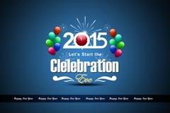 Guten Rutsch ins Neue Jahr 2015 Lizenzfreie Stockfotos