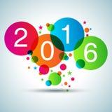 Guten Rutsch ins Neue Jahr 2016 lizenzfreie abbildung