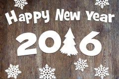 Guten Rutsch ins Neue Jahr - 2016 Stockfoto