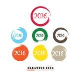Guten Rutsch ins Neue Jahr 2016 Stock Abbildung