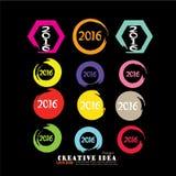 Guten Rutsch ins Neue Jahr 2016 Vektor Abbildung