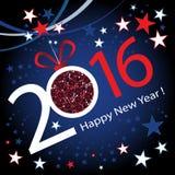 Guten Rutsch ins Neue Jahr 2016 Lizenzfreies Stockbild