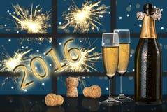 Guten Rutsch ins Neue Jahr 2016 Stockfotografie