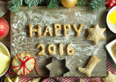 Guten Rutsch ins Neue Jahr 2016 Stockbild