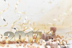Guten Rutsch ins Neue Jahr 2017 Lizenzfreie Stockbilder