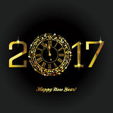 Guten Rutsch ins Neue Jahr - 2017 Stockfotografie
