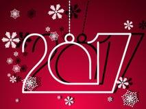 2017 guten Rutsch ins Neue Jahr Stockbild
