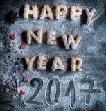 Guten Rutsch ins Neue Jahr 2017 Stockfotografie