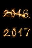 Guten Rutsch ins Neue Jahr 2017 Lizenzfreies Stockfoto