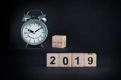 Guten Rutsch ins Neue Jahr 2019 Stockbilder