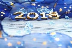 Guten Rutsch ins Neue Jahr 2018 Lizenzfreies Stockfoto