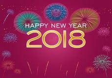 Guten Rutsch ins Neue Jahr 2018 Lizenzfreie Stockbilder