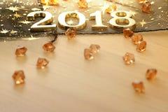 Guten Rutsch ins Neue Jahr 2018 Stockbild