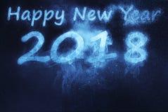 2018 guten Rutsch ins Neue Jahr Abstrakter Hintergrund des nächtlichen Himmels Stockfotos