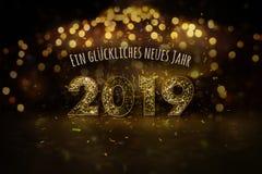 Guten Rutsch ins Neue Jahr 2019 auf deutsch stock abbildung